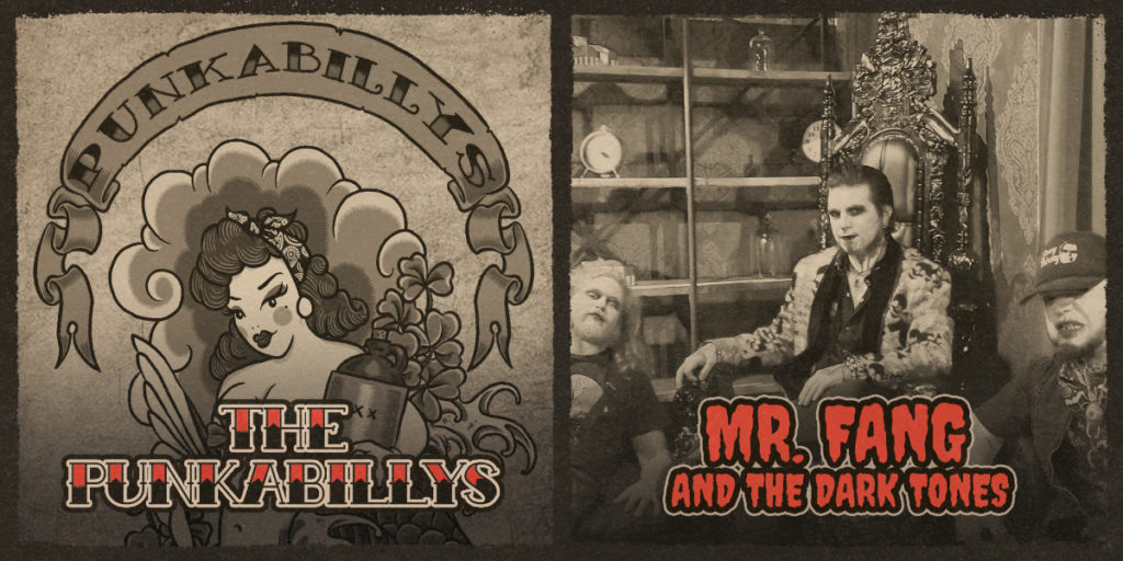 The Punkabillys and Mr. Fang and the Dark Tones will be performing at Rivet: Canteen & Assembly on Saturday, October 23rd, starting at 9:00PM. Doors at 8:00PM.
